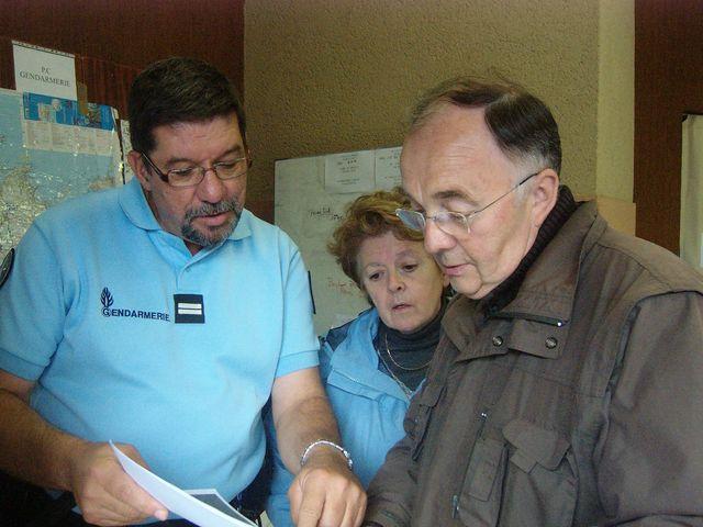 Jean GAUBERT au PCO avec Maryse Allée, maire de saint-pôtan